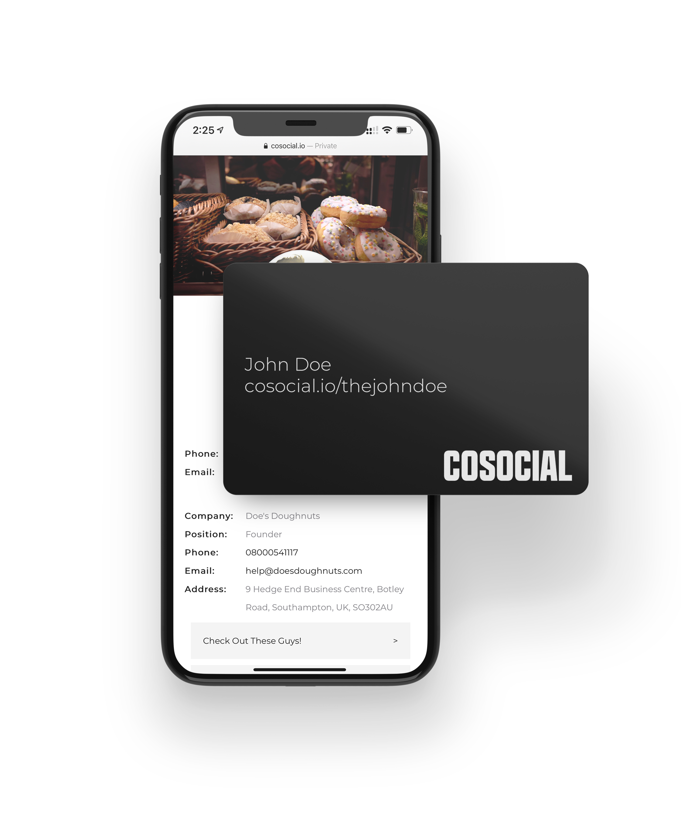 cosocial phone and card